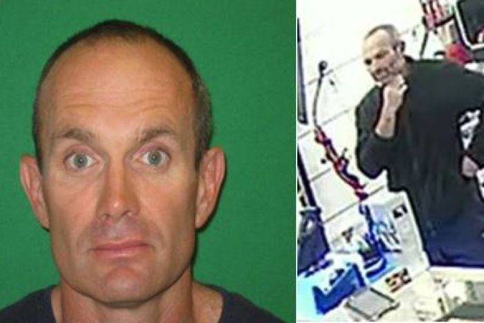 A mug shot and CCTV picture of Christopher William Empey.