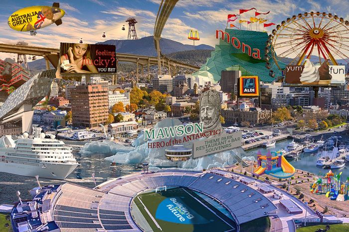 Artist's impression of what Hobart might look like if everyone had their way.