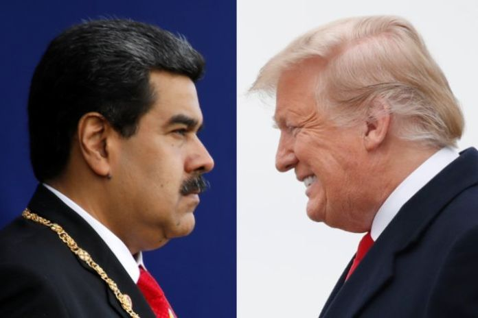 A composite image of Venezuelan President Nicolas Maduro and US President Donald Trump.