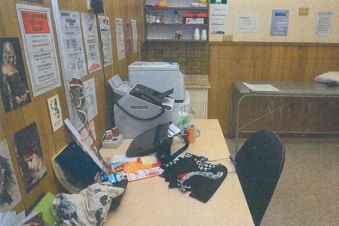 Inside the Hindley Street doctor's surgery where a fatal heroin overdose occured.