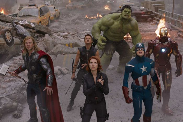 Thor, Black Widow, Hawkeye, The Hulk, Captain America and Iron Man.