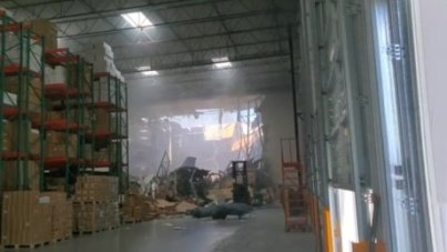 Image result for F-16 fighter jet crashes into warehouse in California