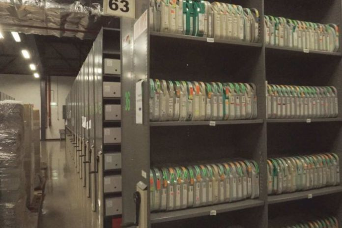 Magnetic tapes waiting to be digitised at The National Archives