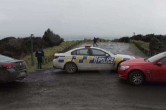 cars block a road in New Zealand