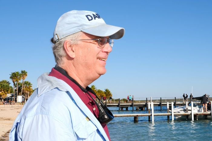 Shark Bay Dolphin Research Alliance principal investigator Richard Connor at Monkey Mia