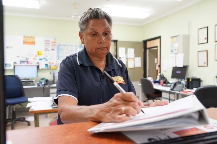 Joanne Berry at the Barunga health care clinic.