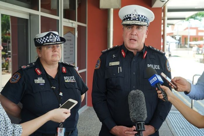 Acting NT Deputy Commissioner Narelle Beer and Acting NT Police Commissioner Michael Murphy.