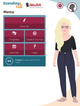 A smartphone application display for a dementia study
