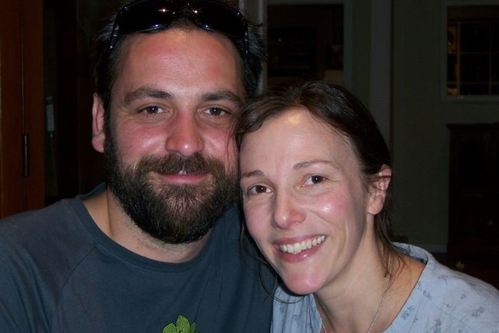 Mat Kavanagh and his wife Jude smile happily at the camera.