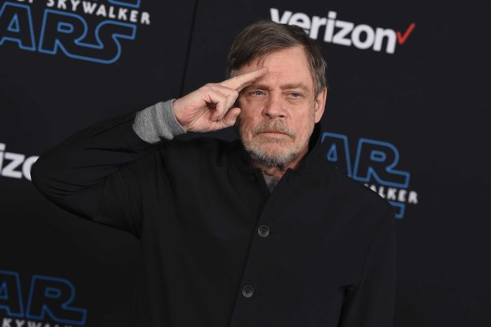 Mark Hamill arrives at the world premiere of