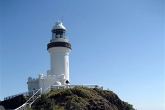 The lighthouse at Byron Bay sits atop Cape Byron
