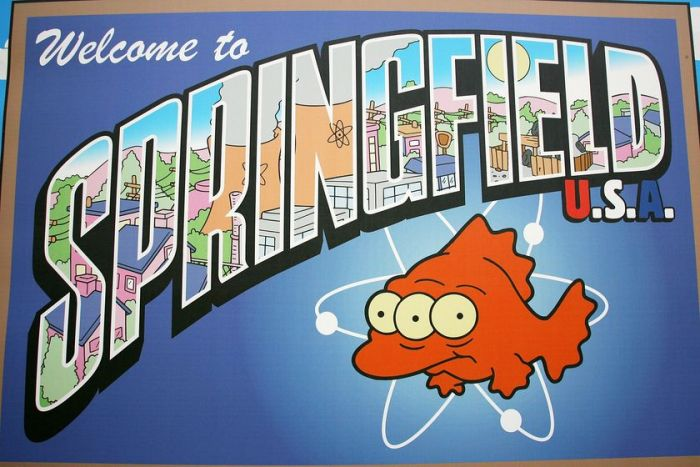 Springfield town sign