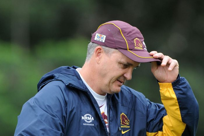 Brisbane Broncos coach Anthony Griffin at a training session at Red Hill on Tuesday April 19, 2011.