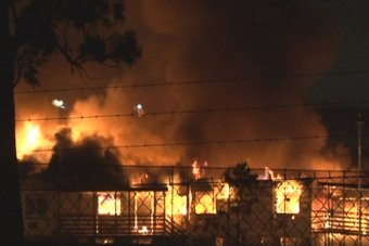 Villawood detention centre set on fire
