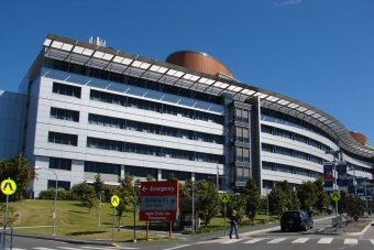 TV still of Front driveway of Princess Alexandra Hospital in Brisbane on August 6, 2008.