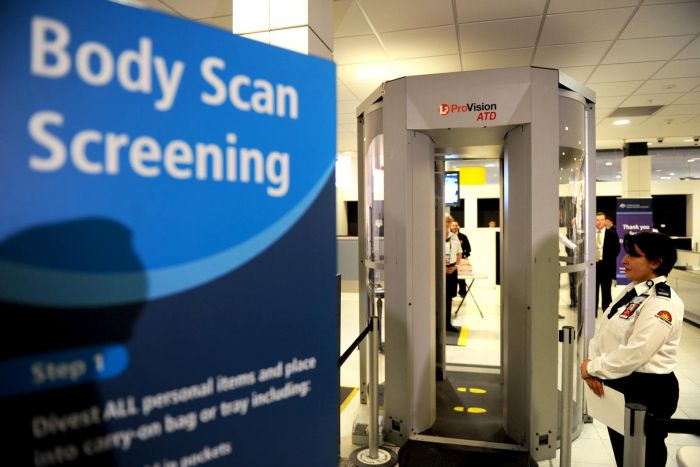 Image result for images of airport body scanners