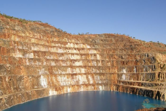The open pit of the Mary Kathleen uranium mine in north-west Queensland in 2009