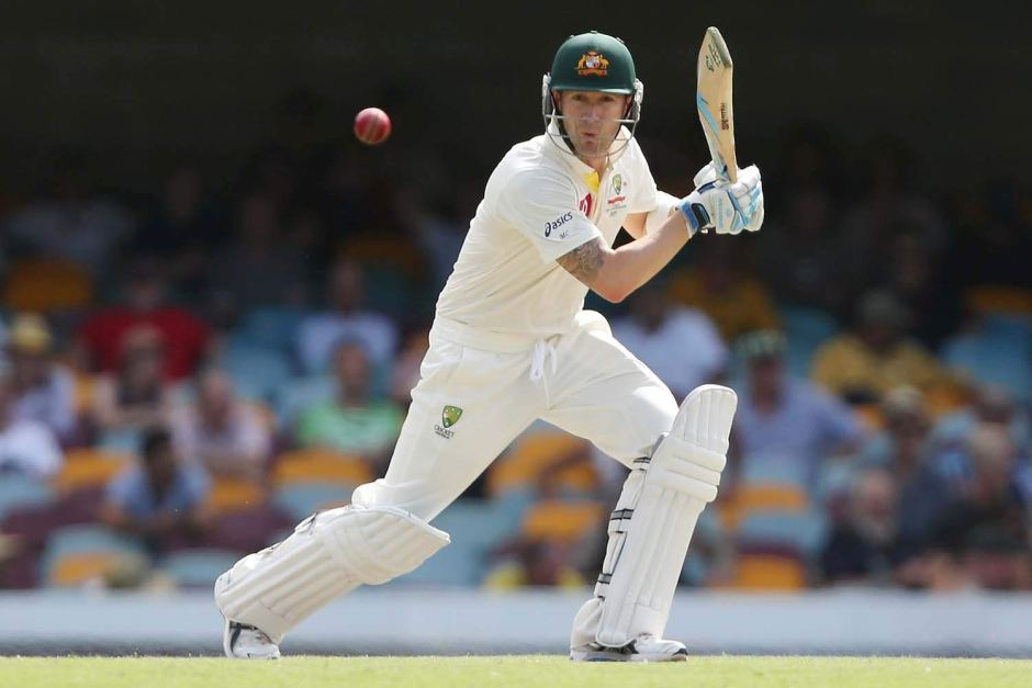 Clarke plays a cover drive  ABC News Australian Broadcasting Corporation