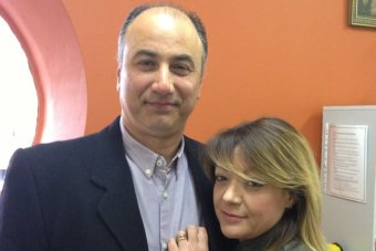 Greek couple Demetre Katsikopoulos and Loukia Kontou.