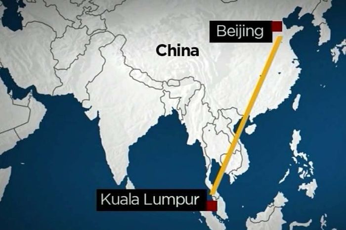 Graphic: Malaysia Airlines plane missing