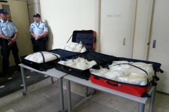 A joint AFP-ACC raid in Melbourne has netted 135 kilograms of methamphetamine.