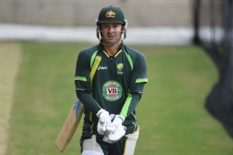 Michael Clarke trains ahead of the first Test
