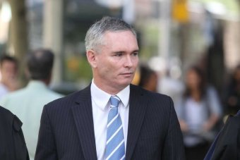Craig Thomson arrives at Melbourne's County Court