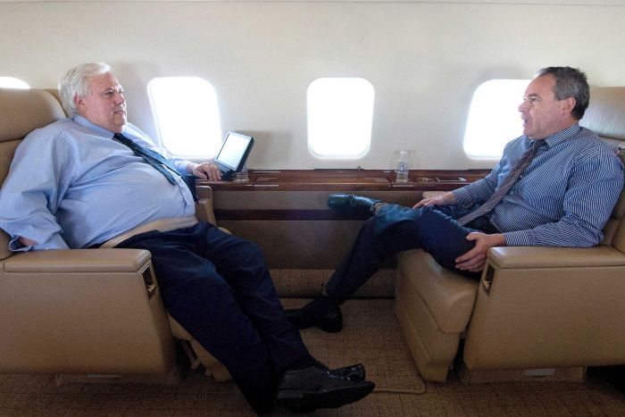 Clive Palmer chats with Andrew Crook