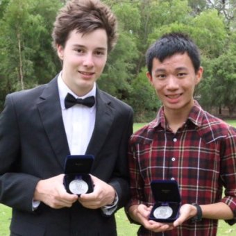 Robert Rubery and Jamin Wu,  Beazley Medal winners 2014