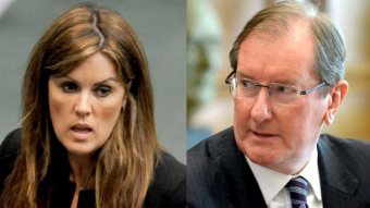 Peta Credlin and Brian Loughnane