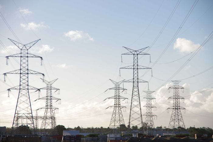 A series of transmission lines at Malaga in Perth