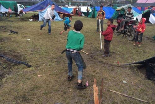 Cricket match amidst quake aftermath