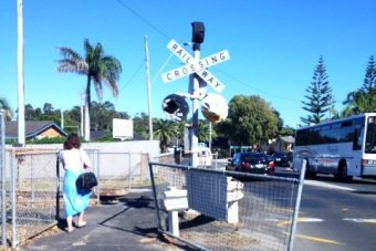 Railway crossing at Byron Bay.