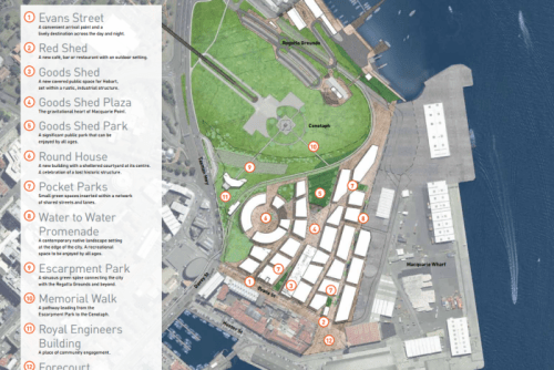 Macquarie Point master plan overview