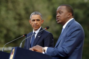 Barack Obama and Uhuru Kenyatta hold a joint news conference