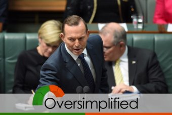 """Tony Abbott has defended Dyson Heydon's integrity, warning Labor MPs in Question Time that it is """"actually a criminal offence to attack a serving royal commissioner""""."""