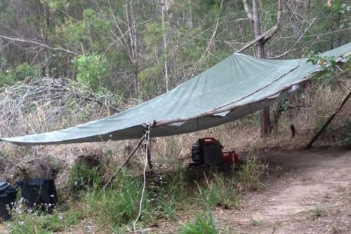 The Queensland campsite used by Bernd Neumann.