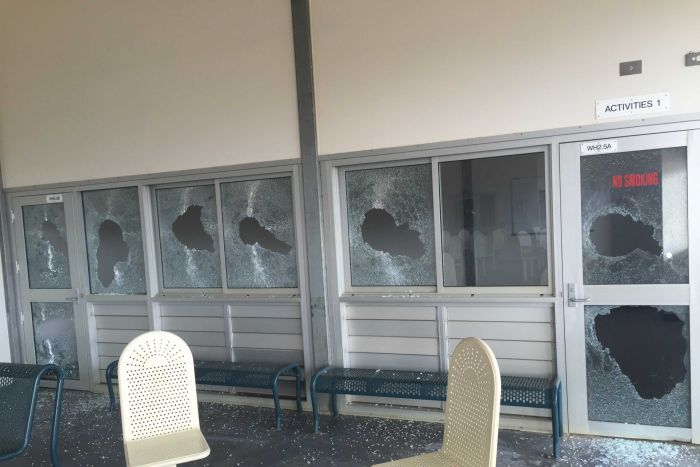 Christmas Island detention centre damage