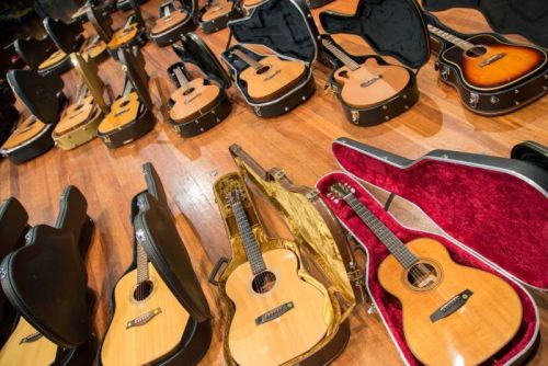 About 130 guitars were donated to the UTAS Conservatorium of Music