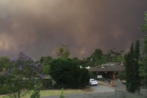 View of fire front from Gawler