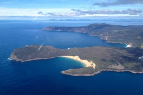 Aerial of cape Raoul