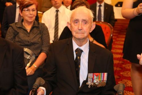 WWII veteran Godfrey Flack with the French Legion of Honour