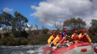 Rafting on the River Derwent
