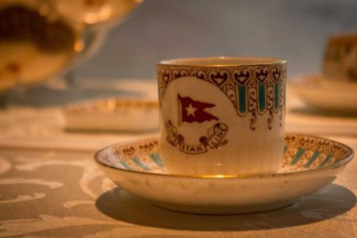 Crockery from the White Star Line, operator of the Titanic. December 11, 2015.jpg