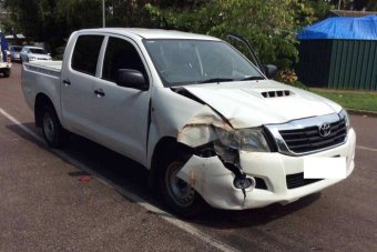 White Hilux stolen and damaged in the Northern Territory