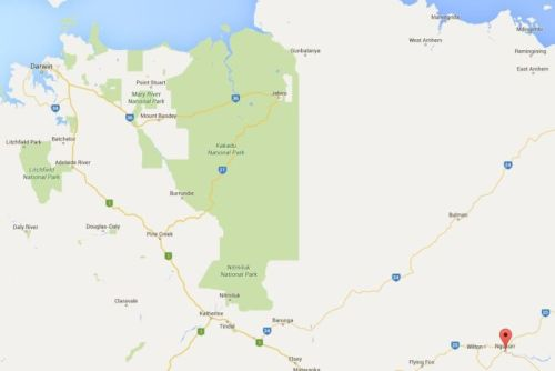 Map of Ngukurr, NT