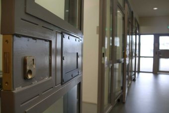 The sliding doors in prison ward at Yatala Prison.