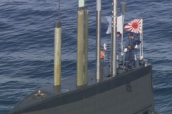 Japanese Soryu class submarine Hakuryu enters Sydney Harbour - still 2