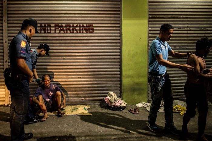 Homeless people detained in Manilla