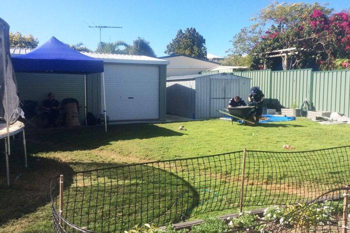 The site at Margate where police are conducting investigations into the homicide of Patricia Ann Riggs